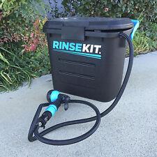 RinseKit Portable Pressurized Shower and Wash Kit: 2-Gallon Capacity - RKBLK2PK