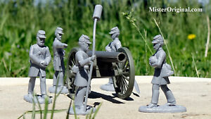 Armies in Plastic Civil War Confederate Heavy Siege Artillery 1/32 Scale 54mm