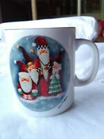 Cup Mug Elaine Thompson 1997 Santa Claus Christmas Coffee Tea