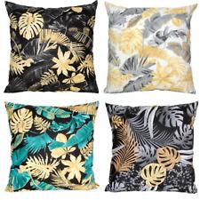 Kissenbezug 40x40 50x50 30x50 Kissenhülle Baumwolle Blumen Garten Blätter Deko