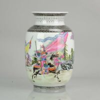 China 20th century Warriors on Horse Vase Chinese porcelain Republic per...