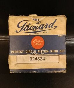 Packard Custom Made Perfect Circle Piston Ring Set #324824 NEW OLD STOCK NOS