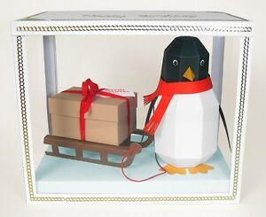 "A4 Card Making Templates -""Pogo"" 3D Penguin."