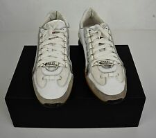 Dsquared2 Sneakers Vellore Kick It Leather White Silver 42 Italy