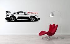 Porsche Carrera GT Sport Racing Luxury Car Wall Decal Art Mural Vinyl Sticker