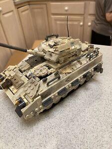 Mega Bloks Call of Duty Desert Tank Collector Construction Set Used W Figures