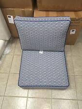Frontgate Outdoor Kensington ARMLESS CHAIR Cushions Michelle Cobalt Blue 26x29