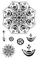 Unmounted Rubber Stamps - 3D Snowflake Set - 6055