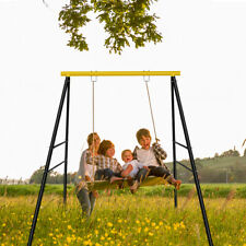 Upgraded A-Frame Swing Set Frame Stand Fun Play Chair Kids Backyard Max 400 lbs