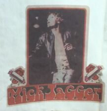"""Vintage 1970s Rock Mick Jagger Rolling Stones T Shirt Iron On Transfer 4.5"""""""