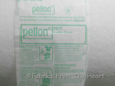 "Lofty Fusible Fleece Pellon #987F BY YARDS 45"" Wide Crafts Apparel Quilts Sewing"