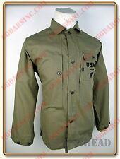 WWII US Marine Corps USMC P44 Plain Green HBT Utility Jacket Size M