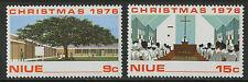 Niue  1976   Scott #   192-193     Mint Never Hinged Set