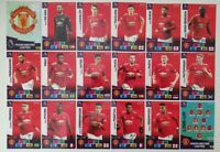 2020/21 PANINI Adrenalyn EPL Soccer Cards - Manchester United Team Set (18 cards