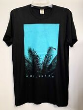 1 Hollister by Abercrombie NAVY PALM LEAF Graphic Mens T-Shirt LARGE L