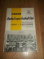 LEEDS V CASTLEFORD ~ RUGBY LEAGUE CHAMPIONSHIP PROGRAMME 1970