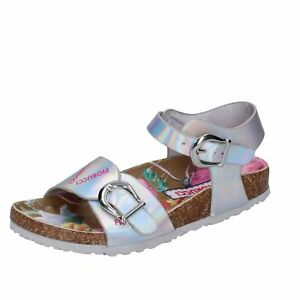 scarpe bambina FIORUCCI sandali argento pelle sintetica BK186