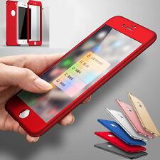 Nahtlos 360 Grad Handyhülle Für iPhone 6 6s 7 Plus Schutzglas Displayschutz Case
