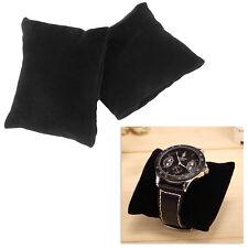 5 Pcs Hot Black Beige Velvet Leather Bracelet Watch Pillow Jewelry Display