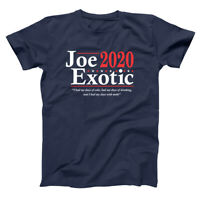 Joe Exotic 2020 Election Funny The Tiger King Navy Soft Blend Unisex T-Shirt