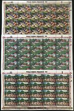 Indonesia #1768-1770 World Cup Soccer/France '98 MNH CV$30 Full Sheets FIFA
