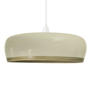 NEW Handmade bamboo ceiling lampshade w/ gloss lacquer exterior (Style: Plateau)