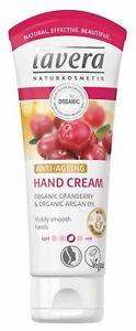 Lavera Anti-Ageing Hand Cream 75ml -Organic Cranberry & organic Argan Oil -Vegan