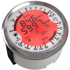 Car Water Temp Fuel Level Oil Meter  GPS Speedometer Gauge 85mm 6-in-1