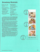 #9322 Broadway Musicals Stamps #2767-2770 USPS Souvenir Page