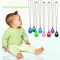 Baby Chewy Necklace Anti Autism ADHD Biting Sensory Chew Teething Silicone Toys