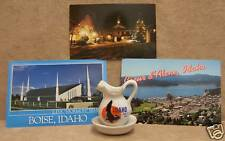 SOUVENIR FROM IDAHO ID POSTCARDS BOISE COEUR D ALENE
