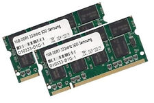2x 1GB 2GB Samsung Speicher DDR 333 Mhz SODIMM PC2700 RAM Laptop Notebook 200pin