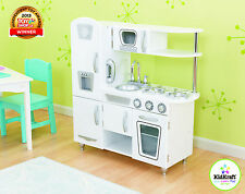 New Wooden Kids Kitchen White Kitchen Childrens Cooking Set Food Role Play Toys