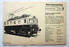 DDR Kleine Typensammlung Schienenfahrzeuge - El. Mehrzwecklok der Reihe 479.0