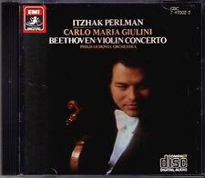 Ltzhak perlman & Giulini: Beethoven Brahms EMI CD Violin Concerto 1981