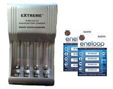 AA/AAA FAST 509 BATTERY CHARGER + 8 x AAA SANYO ENELOOP