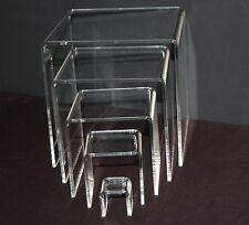 "Multi-Purpose 5 Piece Acrylic Riser Set 1/8"" thick 1x1-5x5"