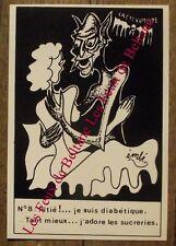 Carte postale Vampire,diabéte, sucrerie , émbé , Le Bris 100 ex.CPSM