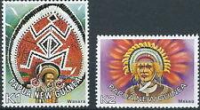 Papua Neuguinea - Freimarken Kopfschmuck Satz postfrisch 1977 Mi. 319-320