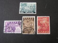 GREECE, SCOTT # 516+517-519(3),2-COMPLETE SETS 1948-49 HISTORICAL EVENTS USED