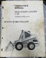 Sperry New Holland Operators Manual For Skid Steer Loader L-35