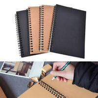 New Spiral Bound Coil Sketch Book Blank Paper Art Graffiti Notebook Stationery P