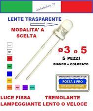 5X diodo led diametro 3 o 5mm 2pin varie modalità e colore