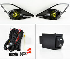 Scion FRS Toyota 86 2013-2016 Gloss Black Bezel Yellow Fog Lights w/ Dash Button