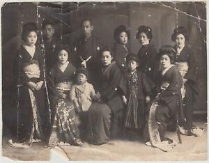 Antique Photo / Family Portrait / Japanese / c. 1915