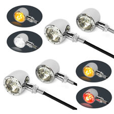 Motorbike Chrome Indicators - Stop Tail Lights & Driving Lights 4 Integrated LED