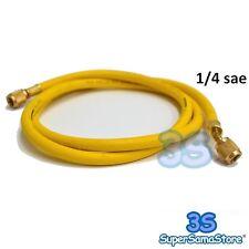 """3S TUBO FRUSTA FLESSIBILE per GAS REFRIGERANTE R22 R407c R134A 1/4"""" SAE - NUOVA"""