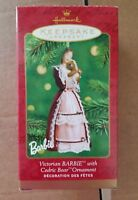 2001 HALLMARK KEEPSAKE Victorian Barbie with Cedric Bear Ornament