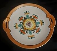 "8"" M Noritake Peach Lusterware Colorful Floral plate"