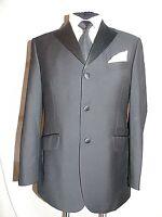 M & S -SARTORIAL CLASSIC ELEGANT BLACK TUXEDO DRESS SUIT JACKET UK 38's EU 48's